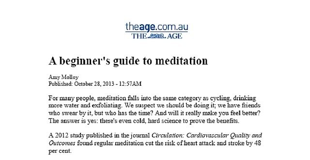 Media The Age Meditation Quiet Mind