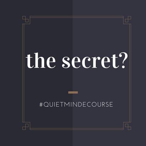 the secret meditation ecourse quietmind