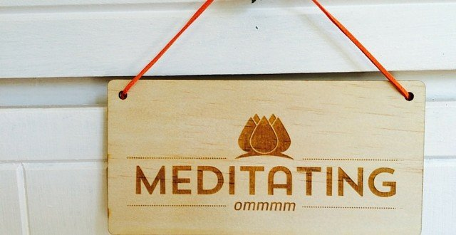 Meditating Door Sign Quiet Mind Meditation