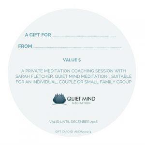Back of Gift Certificate Meditation
