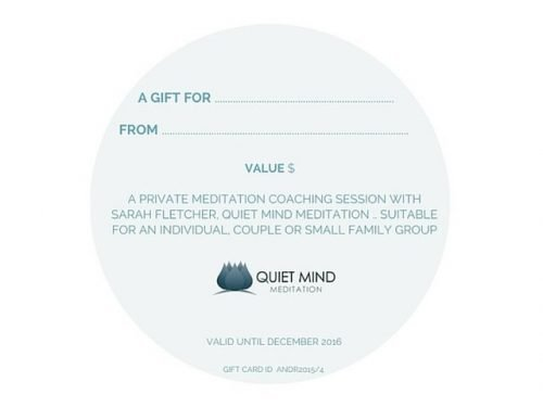 Back of Gift Certificate Meditation