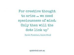 Quiet Mind Meditation Quote