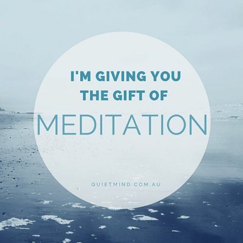 Quiet Mind Meditation Gift Certificate