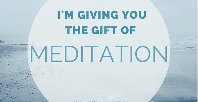 Gift Certificate Meditation