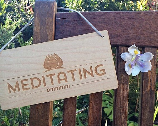 Retreat DoorSign Outside Meditation