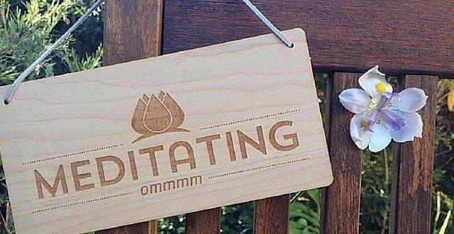 Retreat DoorSign Outside Meditation