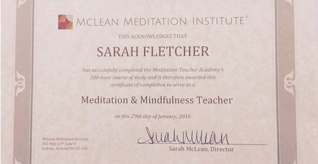 Qualification Meditation Teacher
