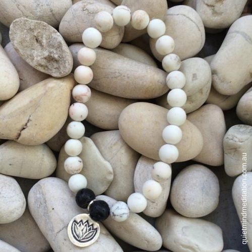 Meditation Intention Bracelet Howlite Stones