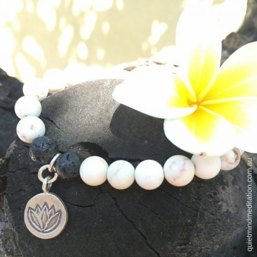 Meditation Intention Bracelet Howlite Calming