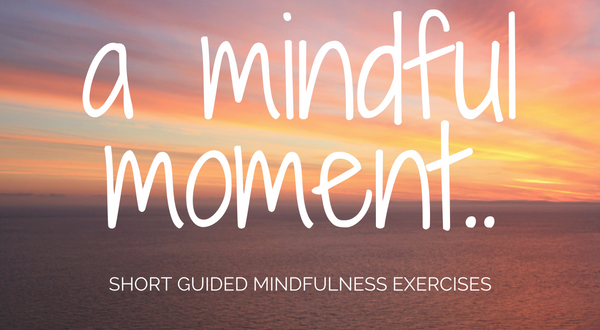 Mindful Moment audio guided meditative exercise