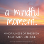 Finding the Body Mindfulness