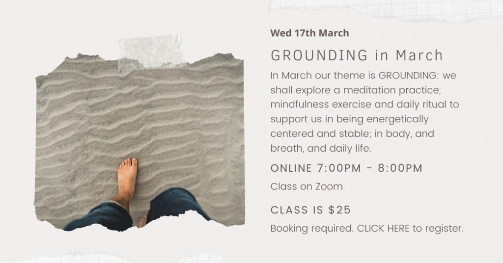 March is Grounding